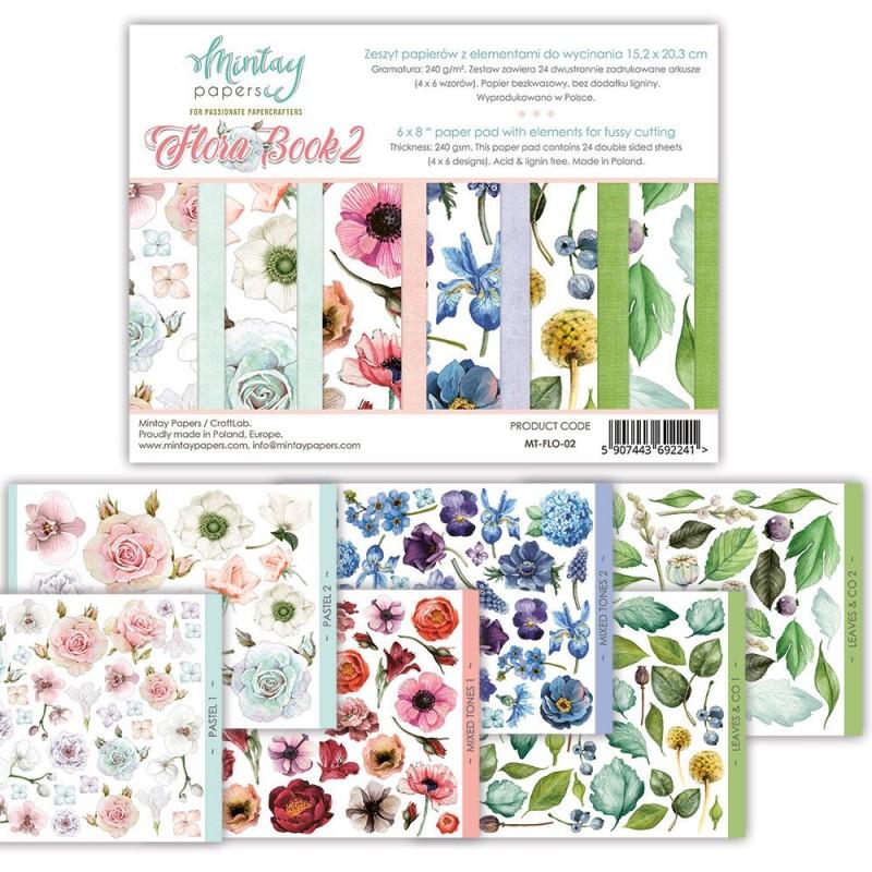Set de papeles Flora Book 2 - Mintay