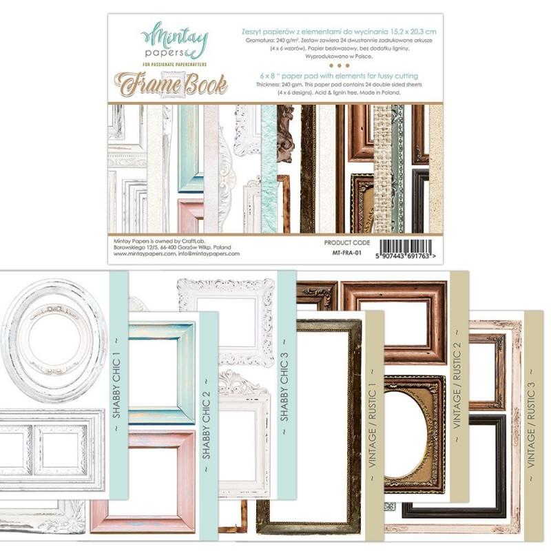 """Set de papeles """"Frame Book"""" - Mintay"""