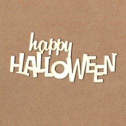 Chipboard happy halloween