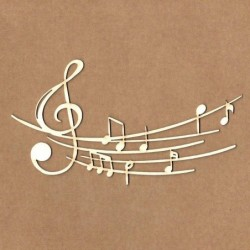 Chipboard notas musicales
