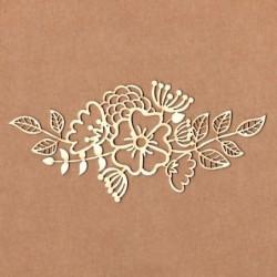 Chipboard ramo de flores variadas