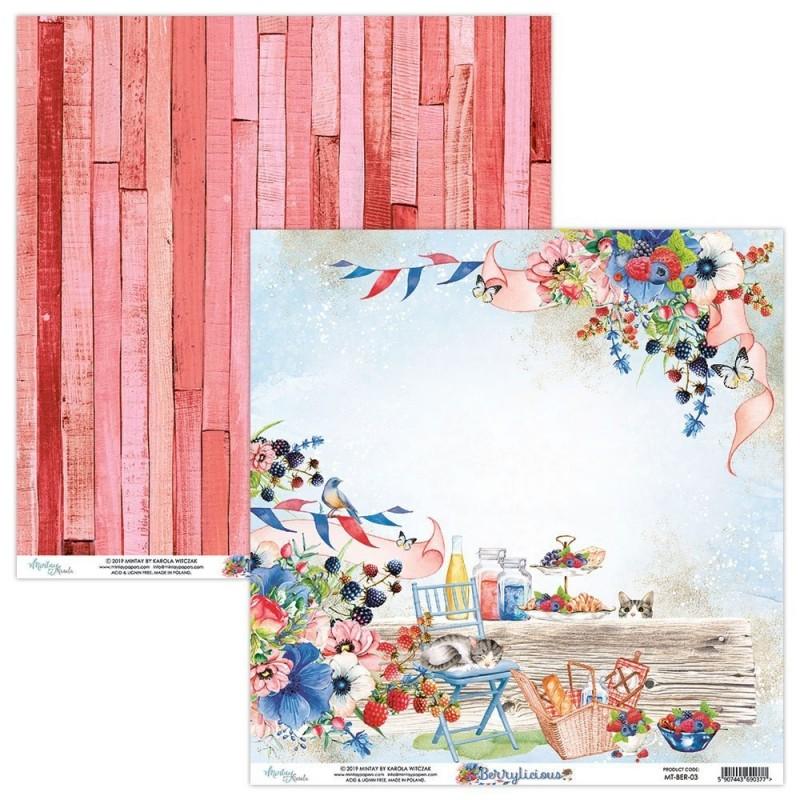 PAPEL MINTAY 12x12''- Berrylicious 03
