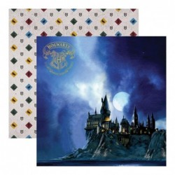 Papel Harry Potter Hogwarts en la noche