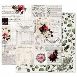 Papel Midnight Garden Rose Receipts