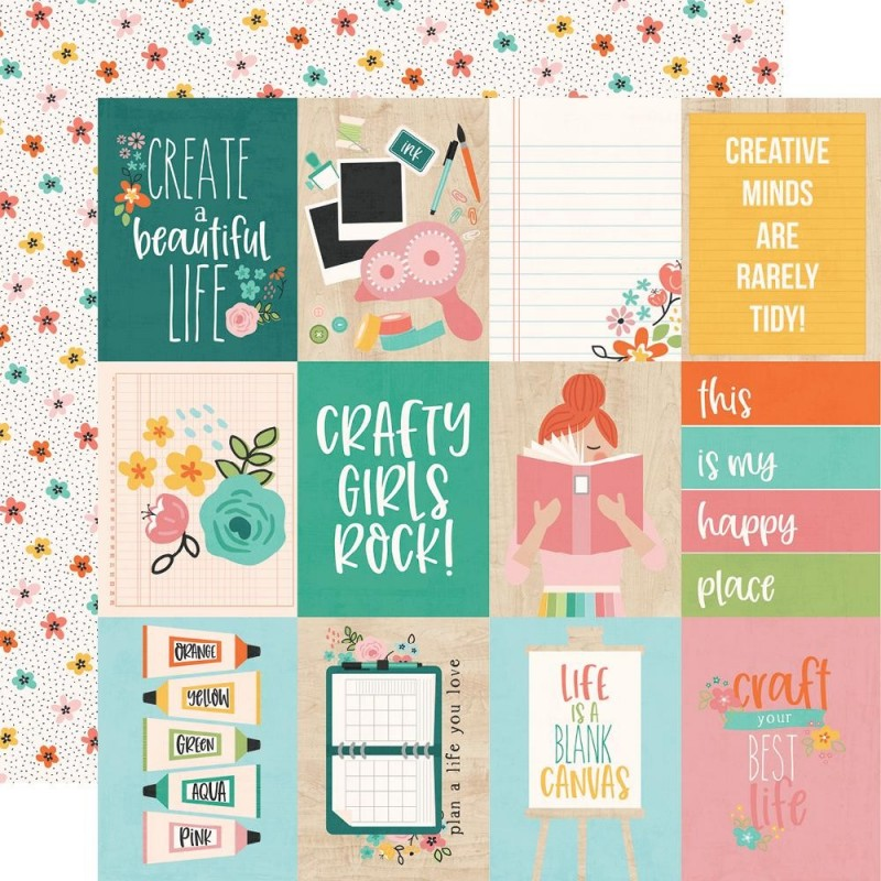 Papel 3x4 Elements Hey Crafty Girl