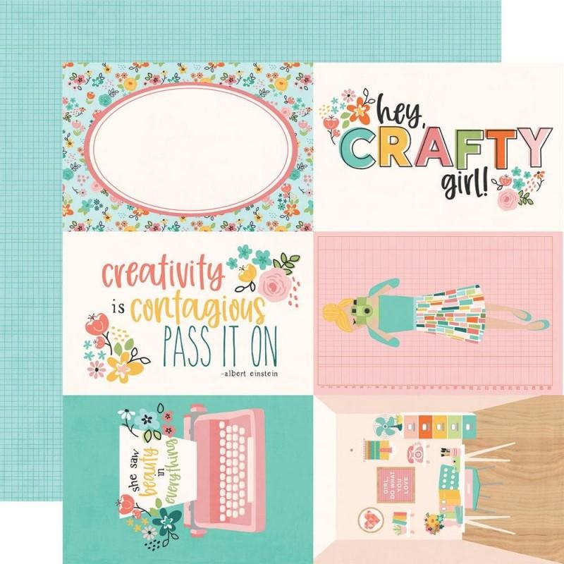 Papel 4x6 Elements Hey Crafty Girl