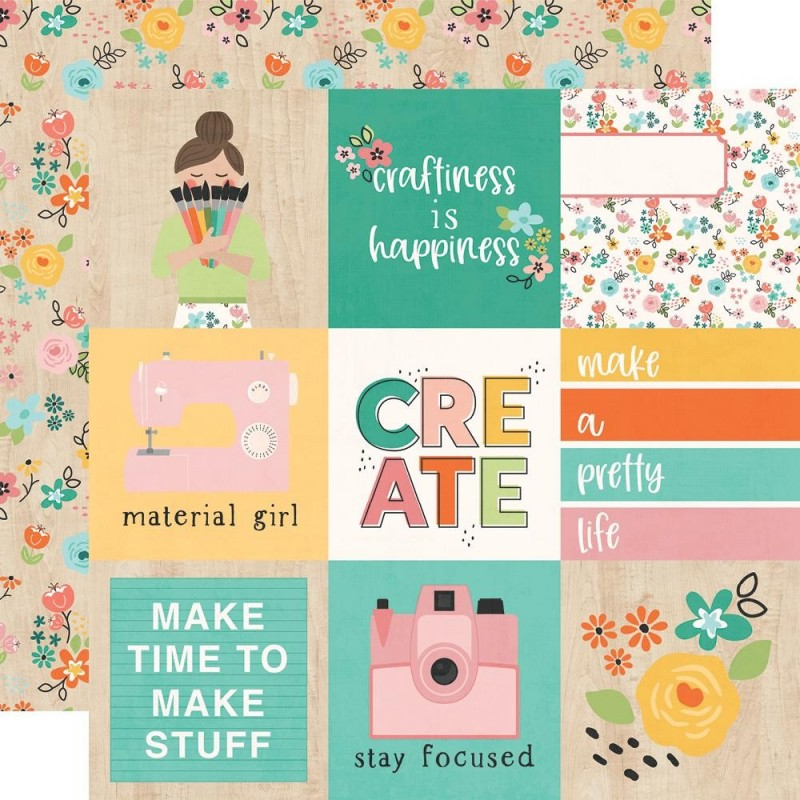 Papel 4x4 Elements Hey Crafty Girl