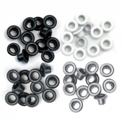 Ojales Negro-Gris. Standard Eyelets