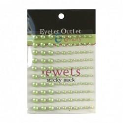 Perlas adhesivas verde