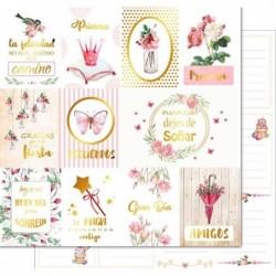 Papel Princess Garden - Song of birds (Foil dorado)