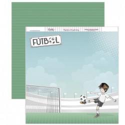 Papel scrapbooking «Fútbol»
